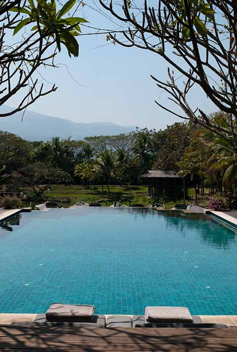 Infinity pool private luxury villa Chiang Mai